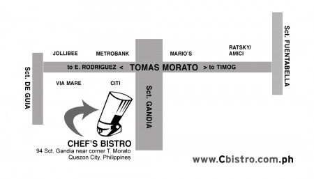 Directions to Chef's Bistro
